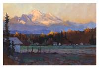 Late October Light Mt. Baker Framed Print