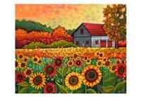 A Bright Sunflower Day Fine Art Print