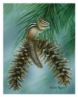 Chipmunk Perch Fine Art Print