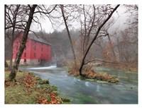 Red Grist Mill Fine Art Print