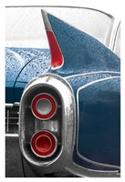 1960 Blue Cadillac Fine Art Print