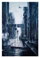Lower Broadway, rain Fine Art Print