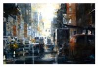 West 14th Street, rain Fine Art Print