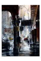 Lincoln Tunnel & 10th Avenue, rain Fine Art Print