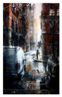 Jersey Street, rain Fine Art Print