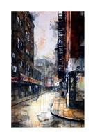 Doyers Street at Pell, rain Fine Art Print
