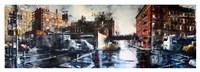West 27th Street and 10th Avenue, rain Fine Art Print