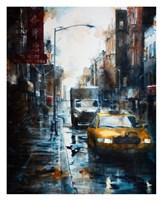 39 Mott Street, rain Fine Art Print
