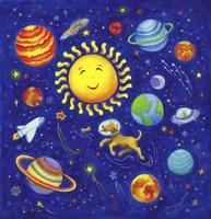 Solar System Dog Fine Art Print