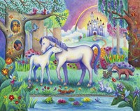 Unicorn Foal Castle Fine Art Print
