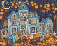 Haunted House Costume Parade Fine Art Print