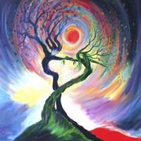 Dancing Tree Spirits Fine Art Print