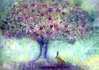Hare And The Magical Tree Fine Art Print