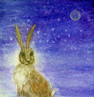 Hare And The Moon Fine Art Print