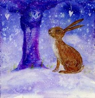 Hare And The Wise Old Apple Tree Fine Art Print