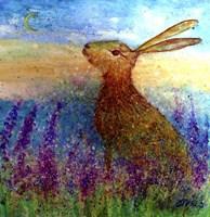 Hare In Spring Flowers Fine Art Print