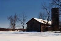 Abandon Farm In Winter Fine Art Print