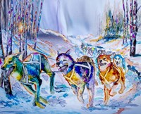 Paws in Motion Fine Art Print