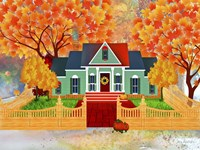 Autumn House Framed Print