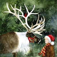 Faith Hope and Reindeer Fine Art Print
