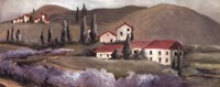 """Lavender Fields II by Carol Robinson - 20"""" x 8"""""""