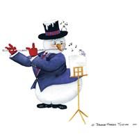 Musical Snowmen Flute Fine Art Print