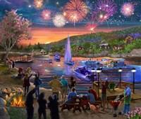 Summer Fireworks 2 Fine Art Print