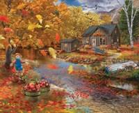 Autumn Cabin Framed Print