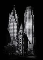 Gooderham Flatiron Building And Toronto Downtown No 2 Fine Art Print