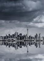 Toronto Skyline From Colonel Samuel Smith Park Reflection No 1 Fine Art Print