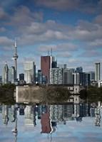 Toronto Skyline From The Pape Ave Bridge Reflection No 1 Fine Art Print