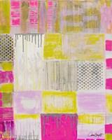 Pink Plaid Fine Art Print