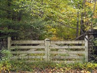 Gate And Country Path Fine Art Print