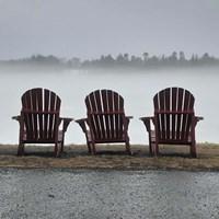 Adirondack Chairs and Fog Fine Art Print