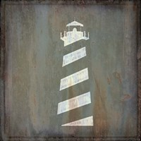 Rusty Sign Lighthouse Framed Print