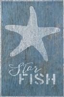 Starfish on Blue Framed Print