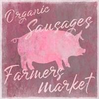 Farmers Market Pig Framed Print