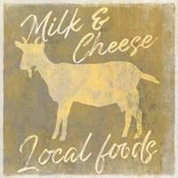Local Foods Goat Framed Print