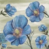 Blue Poppies 1 Fine Art Print
