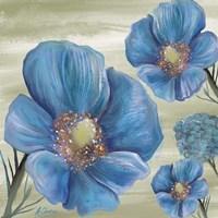 Blue Poppies 2 Fine Art Print