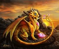 Helia Golden Dragon Fine Art Print