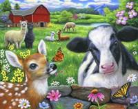 Friends at the Farm Fine Art Print