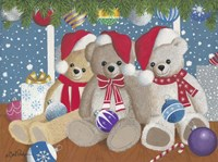 Christmas Morning Teddys Fine Art Print