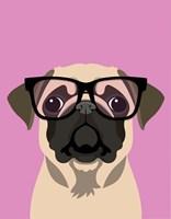 Pug Pink Framed Print