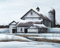 White Barn Fine Art Print