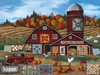 Pumpkin Patch Farm Framed Print