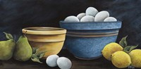 Blue Bowl with Eggs Framed Print