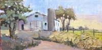 Plein Air Trees and Barn Fine Art Print