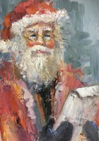 Santa with naughty and nice list Fine Art Print