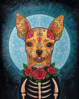 Chihuahua- Day of the Dead Fine Art Print